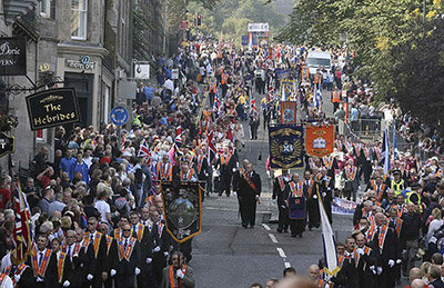 The Edinburgh Protestant march supporting the