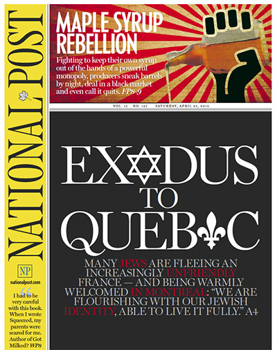 Exodus of Jews from France to Quebec, Canada and to Israel