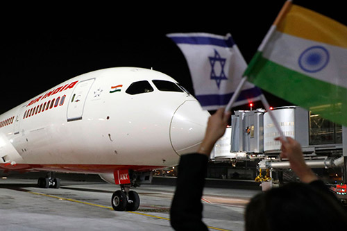 Air India Flight Lands in Israel