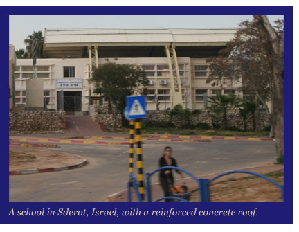 School in Sterot Israel subject to rocket attacks from Gaza.