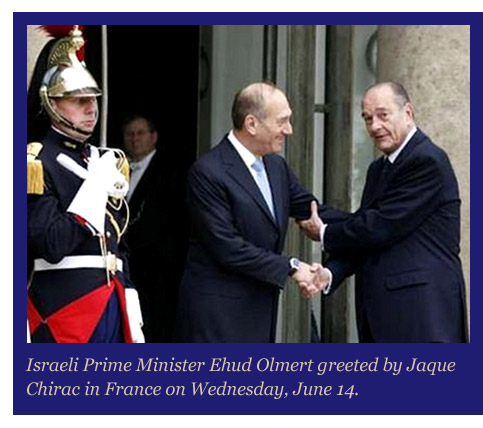Chirac and Olmert