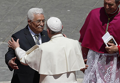 Pope and Abbas meet at the Vatican.